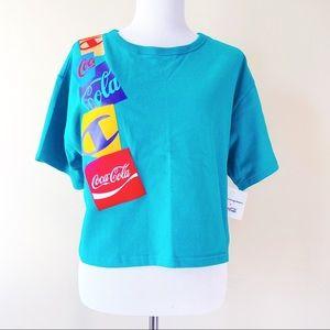 🆕 Champion Coca-Cola Soda Womens Crop Top Shirt